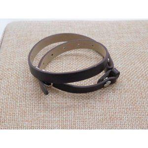 Origami Owl Brown Leather Wrap Bracelet NEW